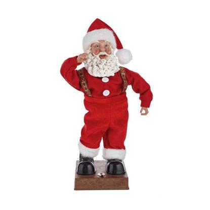 Изображение Декорация рождественская музыкальная X-MAS Красный 25x16 см. H:46 см. L:25 см. 10220990