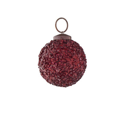 Зображення Кулька ялинкова HANG ON Червоний O:5 см. 10221010
