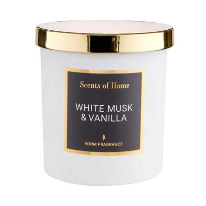 Изображение Свечка ароматизированная SCENTS OF HOME Белый O:8 см. H:9 см. 10221033