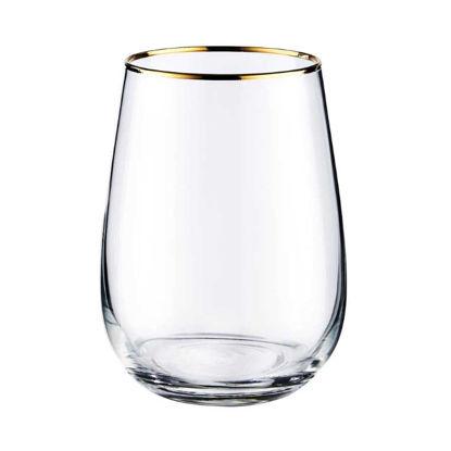 Зображення Склянка для води TOUCH OF GOLD Прозорий V:590 мл. 10221159