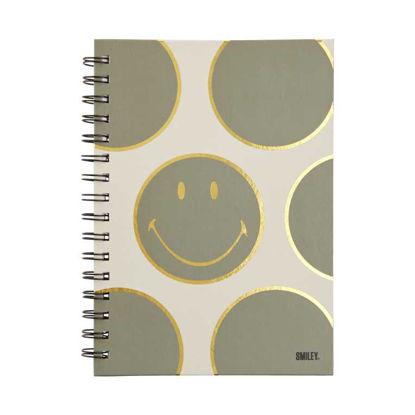 Изображение Блокнот SMILEY Серый 21.5x16.5 см. H:1.2 см. L:21.5 см. 10221161