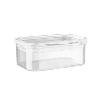 Зображення Ємність кухонна з кришкою CLEARANCE Прозорий 16x11 см. H:7.2 см. L:16 см. V:700 мл. 10221236