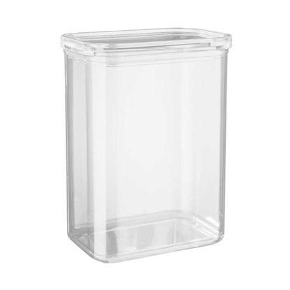 Зображення Ємність кухонна з кришкою CLEARANCE Прозорий 16x11 см. H:21.5 см. L:16 см. V:2700 мл. 10221238