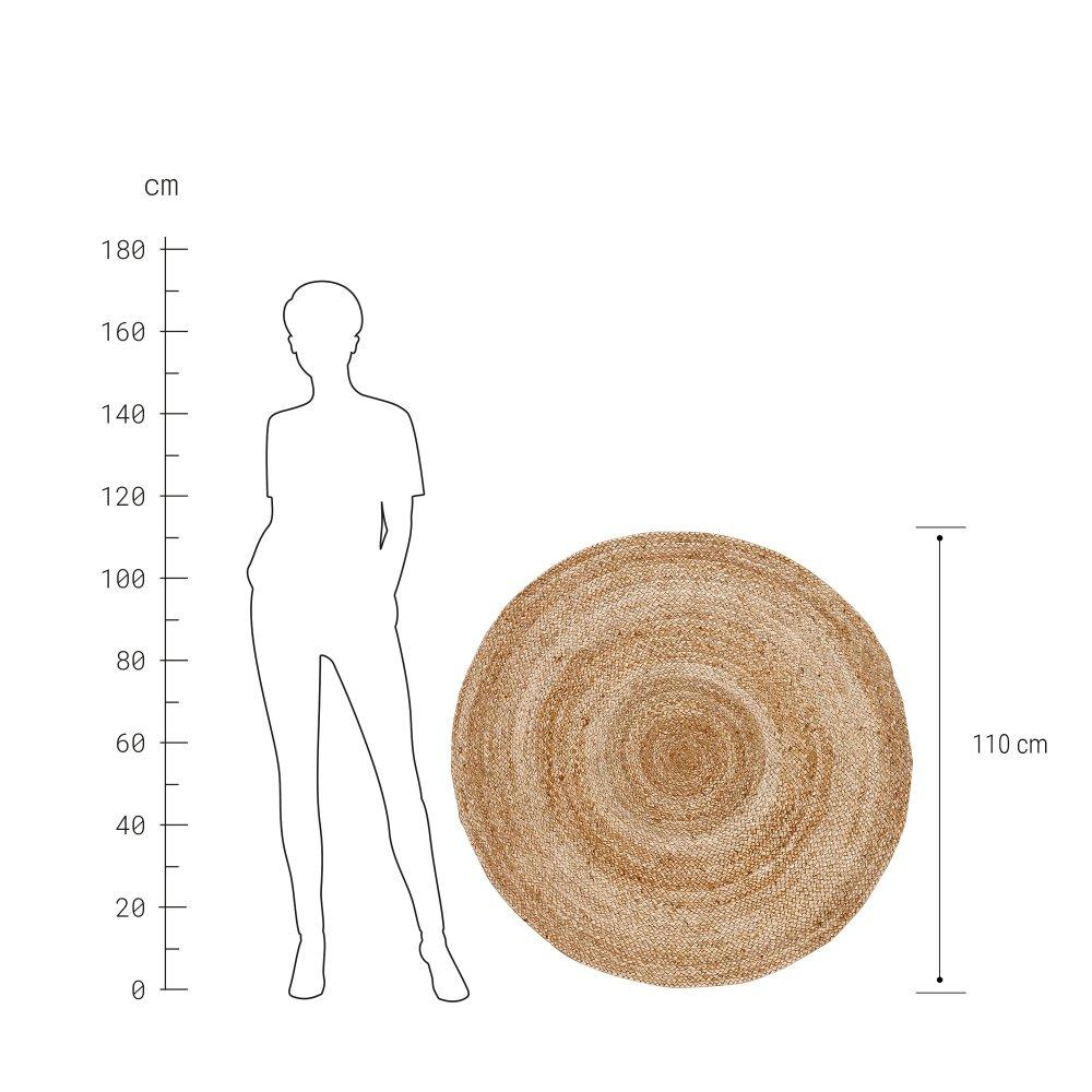 Зображення Килим для підлоги ALL NATURE Бежевий O:110 см. H:1 см. 10221289