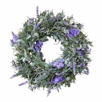 Изображение Венок декоративный FLORISTA Сиреневый O:25 см. H:8 см. 10221379