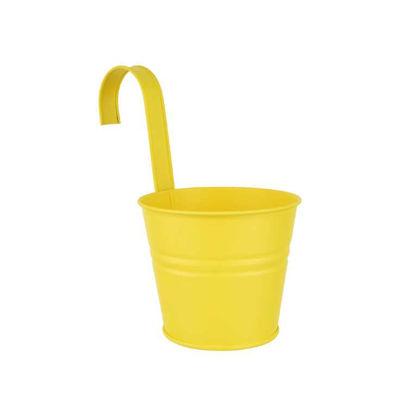 Изображение Горшок для цветов ZINC Желтый O:13 см. H:11 см. 10221490