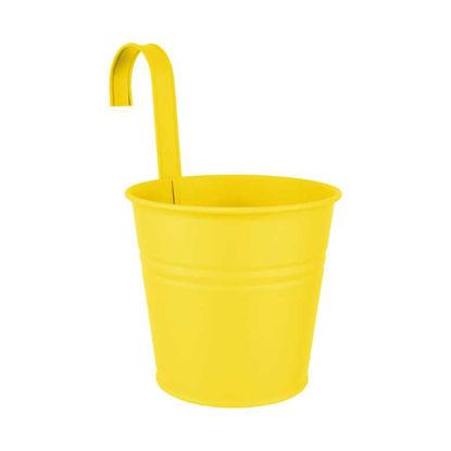 Изображение Горшок для цветов ZINC Желтый O:16 см. H:14.5 см. 10221497
