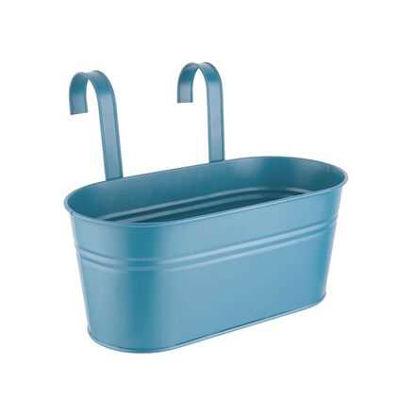 Зображення Горщик для квітів ZINC Синій 33x15.5 см. H:14 см. L:33 см. 10221500