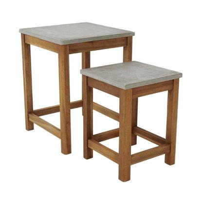 Зображення Столик CONCRETE Сірий 40x40 см. H:52 см. L:40 см. 10221524