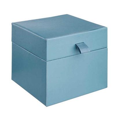 Изображение Коробка декоративная LITTLE SECRET Синий 14x14 см. H:12 см. L:14 см. 10221682
