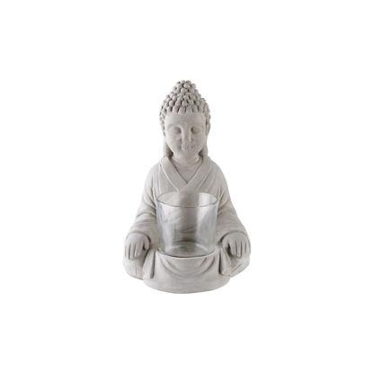 Изображение Подсвечник декоративный BUDDHA Серый 12x12.5 см. H:16.5 см. L:12 см. 10221698