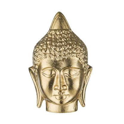 Изображение Фигура голова будды BUDDHA Золотой 11x10 см. H:18 см. L:11 см. 10221708