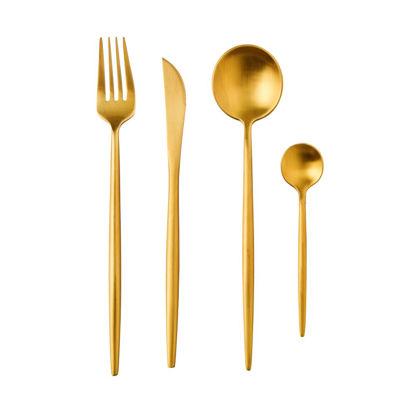 Зображення Набір столових приборів STILLETTO Золотий L:22.5 см. 10221740