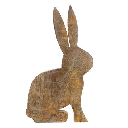 Изображение Декорации в виде кролика EASTER Коричневый 18x2.4 см. H:28 см. L:18 см. 10221747