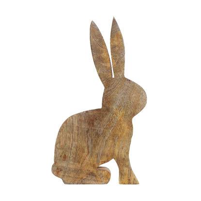 Изображение Декорации в виде кролика EASTER Коричневый 18x2.4 см. H:28 см. L:18 см. 10221748