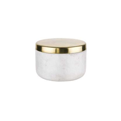 Изображение Емкость для хранения MARBLE Белый O:8.5 см. H:5.5 см. V:150 мл. 10221915