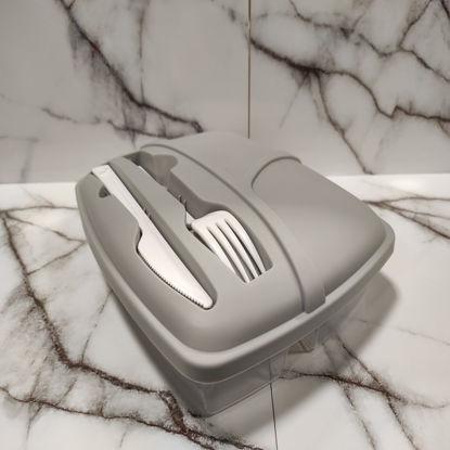 Изображение Контейнер для продуктов LUNCHTIME Серый H:20 см. L:17 см. 10221970