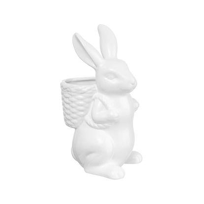 Изображение Декорации в виде кролика EASTER Белый H:24 см. 10222110