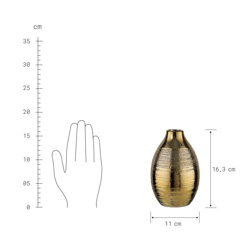 Изображение Ваза MAYA Золотой O:11 см. H:16.3 см. 10222338