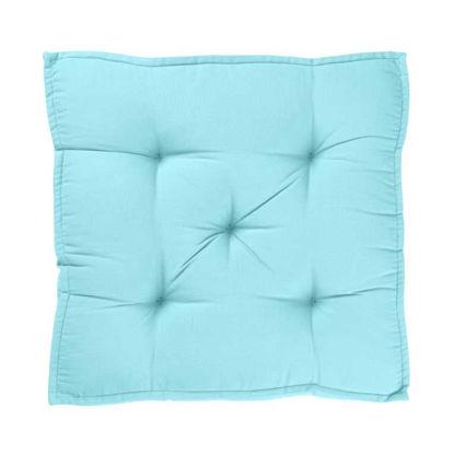 Изображение Подушка на стул SOLID Голубой 40x40 см. H:7.5 см. L:40 см. 10222429