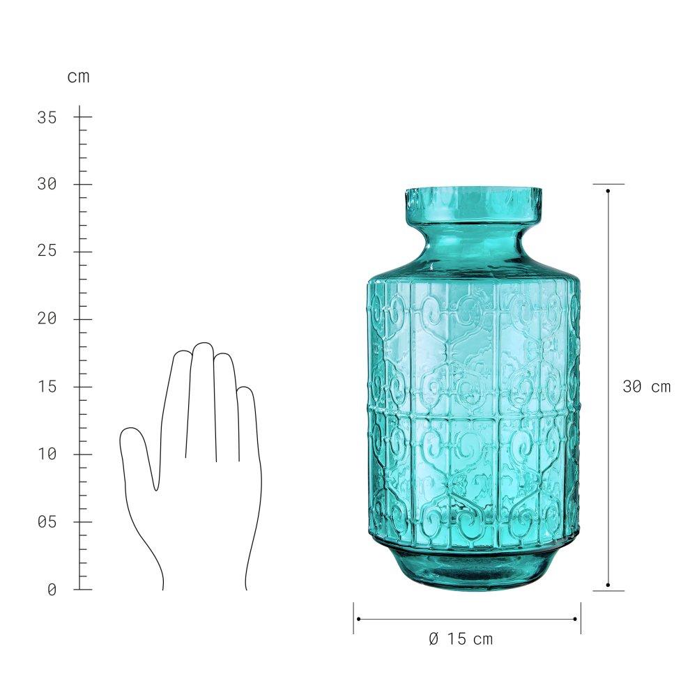 Изображение Ваза JOANA Зеленый O:15 см. H:30 см. 10222491