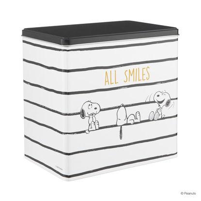 Зображення Коробка для зберігання печива PEANUTS Білий в поєднанні 20х13х19,7 см. 10222520