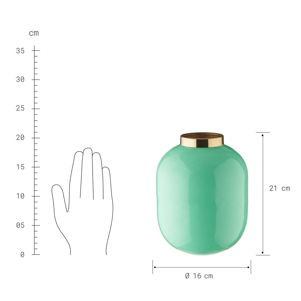 Зображення Ваза EMILIE Зелений O:16 см. H:21 см. 10222566