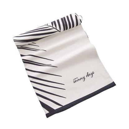 Зображення Рушник пляжний CAMPS BAY Чорний в поєднанні 90x180 см. H:90 см. L:180 см. 10222849