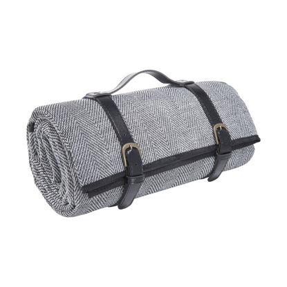 Зображення Ковдра для пікніку WANDERLUST Чорний в поєднанні 150х200 см. H:150 см. L:200 см. 10222856