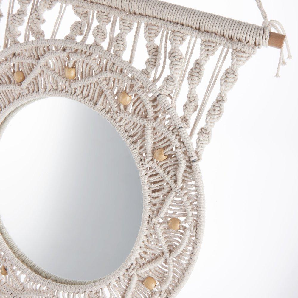 Зображення Гобелен з дзеркалом MACRAME Сірий 50х130 см. H:130 см. L:50 см. 10222951