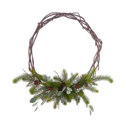 Изображение Венок декоративный FLORISTA Зеленый в сочетании O:40 см. 10223129
