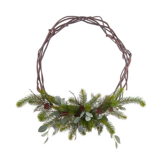 Зображення Вінок декоративний FLORISTA Зелений в поєднанні O:40 см. 10223129