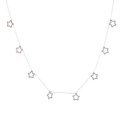 Изображение Гирлянда STARS Серебряный L:195 см. 10223244