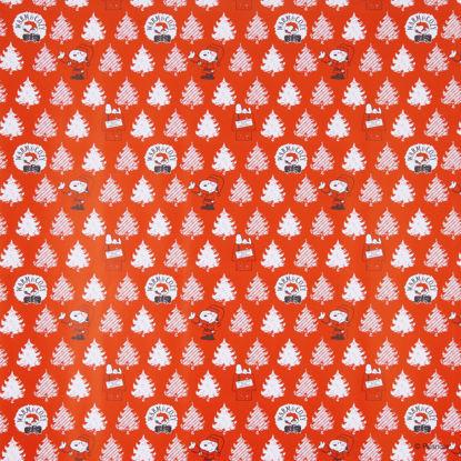 Зображення Папір для обгортання подарунків PEANUTS Червоний в поєднанні 200х70 см. H:70 см. L:200 см. 10223381