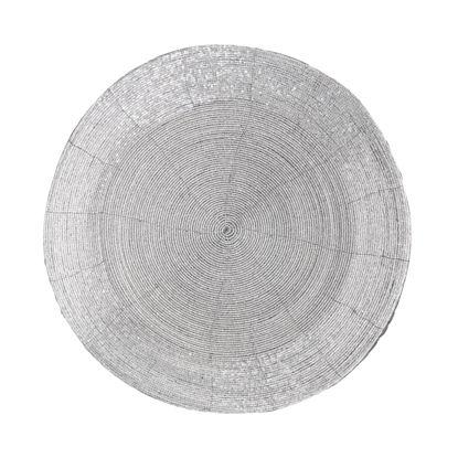 Изображение Подставка под тарелки SHINE ON Серебряный O:35 см. 10223479