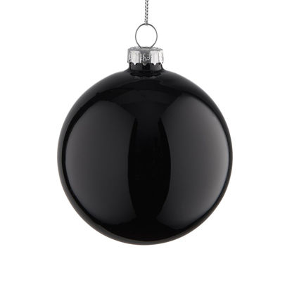 Зображення Кулька ялинкова HANG ON Чорний O:8 см. 10223574