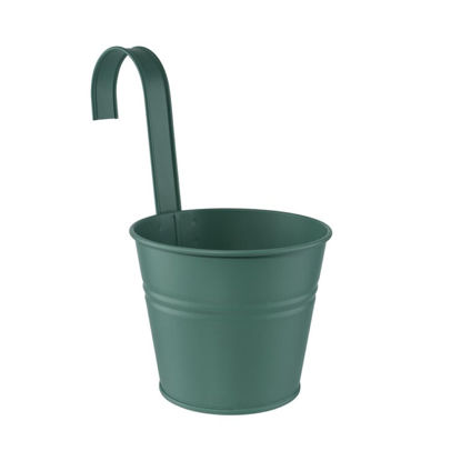 Зображення Відерце підвісне ZINC Зелений O:13 см. H:11 см. 10223880