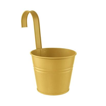 Изображение Ведерко подвесное ZINC Желтый O:13 см. H:11 см. 10223883