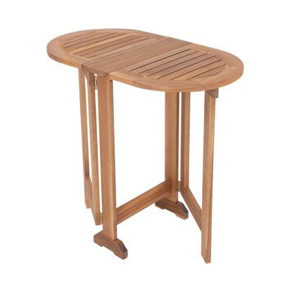 Изображение Стол складной WINGS Коричневый 80х45х75 см. H:80 см. L:75 см. 10224035