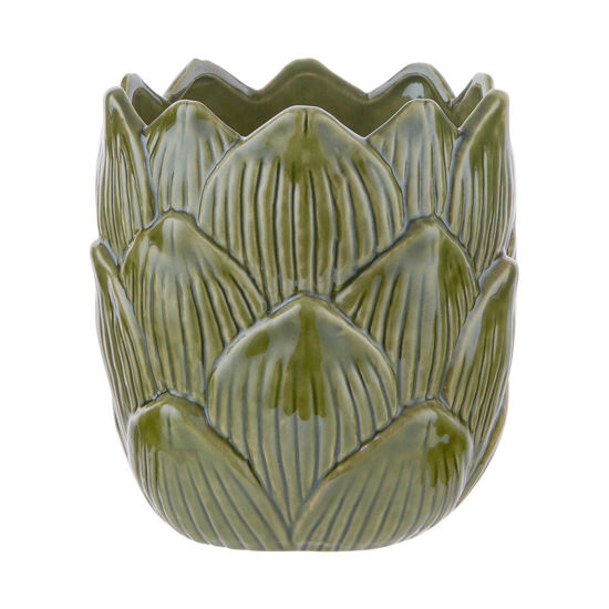 Зображення Горщик для квітів VEGGIE Зелений H:17 см. 10224085