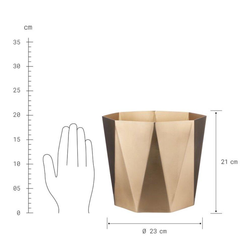 Зображення Горщик для квітів PLANTA Золотий O:23 см. H:21 см. 10224216