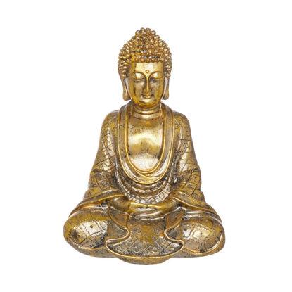 Зображення Фігура будди BUDDHA Золотий 14х11х19 см. 10224602