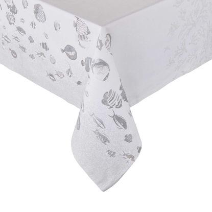 Зображення Скатертина REEF Білий в поєднанні 160x160 см. H:160 см. L:160 см. 10225007