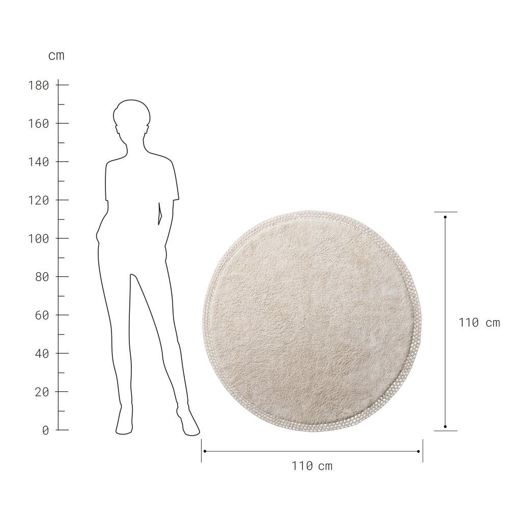 Зображення Килим для підлоги BOHO LOUNGE Бежевий O:120 см. 10225336