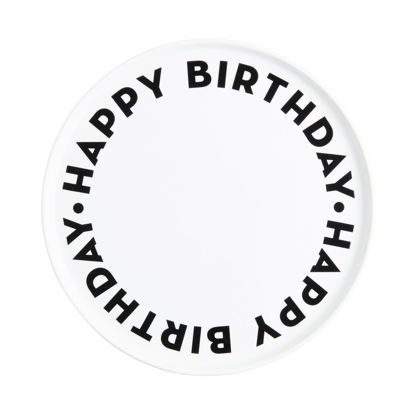 Зображення Тарілка HAPPY BIRTHDAY Чорний в поєднанні O:32 см. 10225598