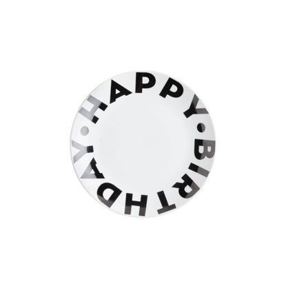 Зображення Тарілка HAPPY BIRTHDAY Чорний в поєднанні O:20 см. 10225599