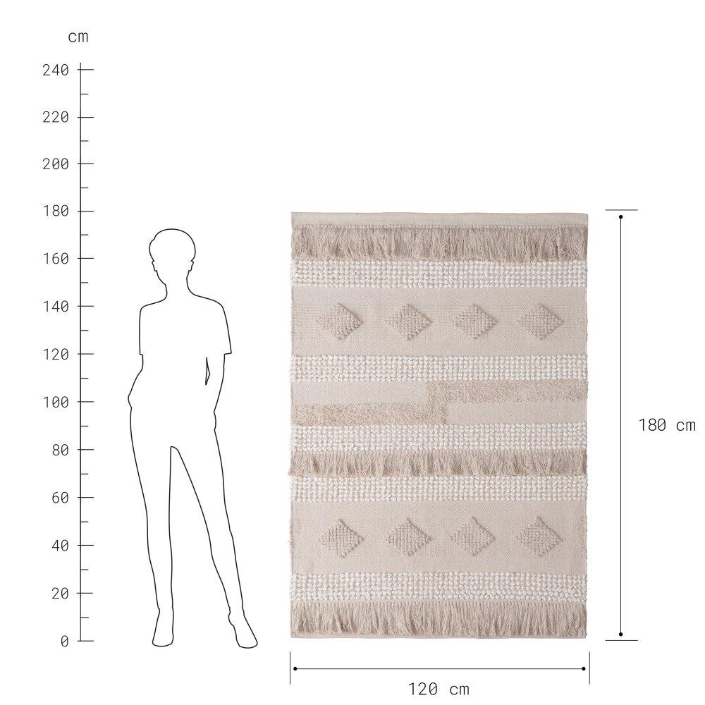 Зображення Килим для підлоги ALL NATURE Бежевий 120х180 см. H:120 см. L:180 см. 10225799