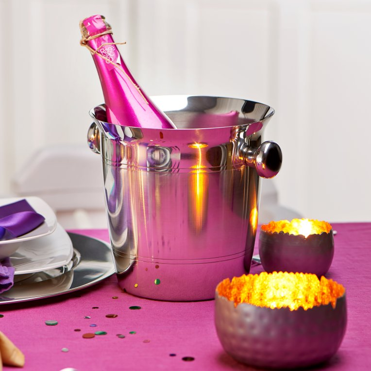 Зображення Відро для охолодження шампанського CHAMPAGNE Срібний H:19 см. 50034727